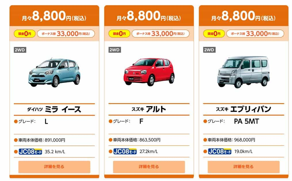 8800円プラン