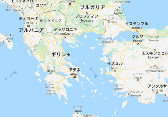 ギリシャ 地図