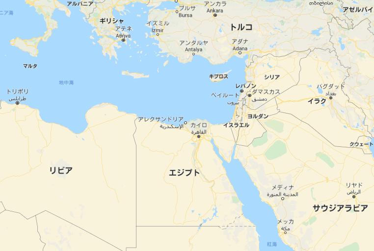 エジプト 地図
